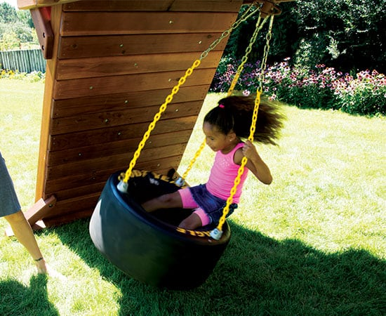Tire Swing 3-Chain (Race Car) (137)