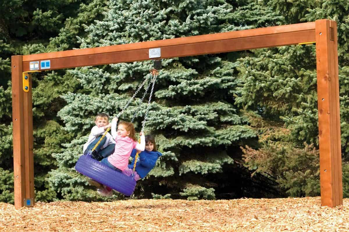 Commercial Tire Swing Swingset (C62)