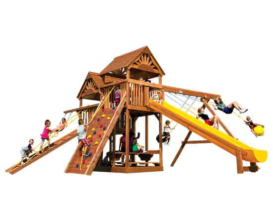 King Kong Clubhouse Pkg II Wood Roofs (53B)