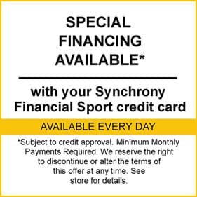 Special Financing Available with your Synchrony Financial Sport credit card