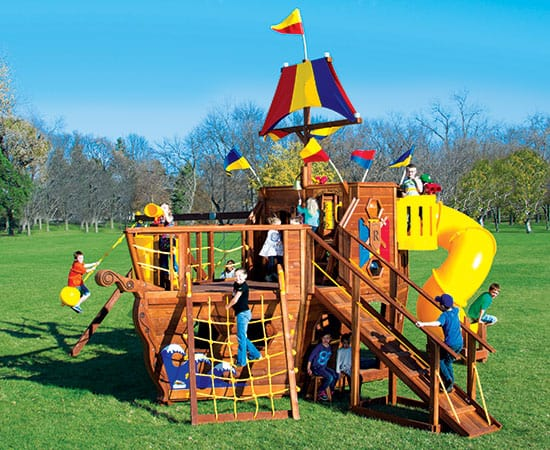 Pirate Ship Pkg II Spiral Slide (93A)