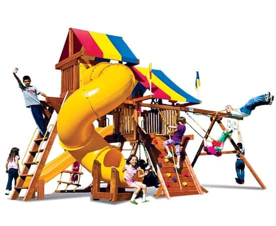 Rainbow Castle Pkg V Loaded w/ 360˚ Spiral Slide (19i)