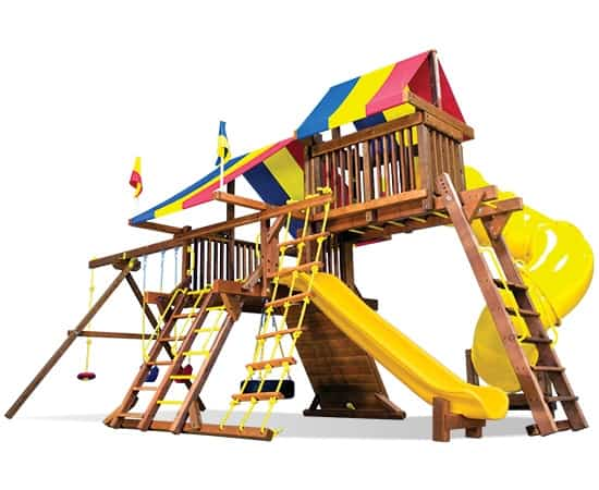 Rainbow Castle Pkg V Loaded w/ 360˚ Spiral Slide (19J)