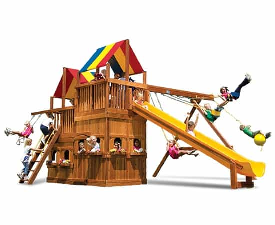 King Kong Clubhouse Pkg II w/ Lower-Level Fort (54D)