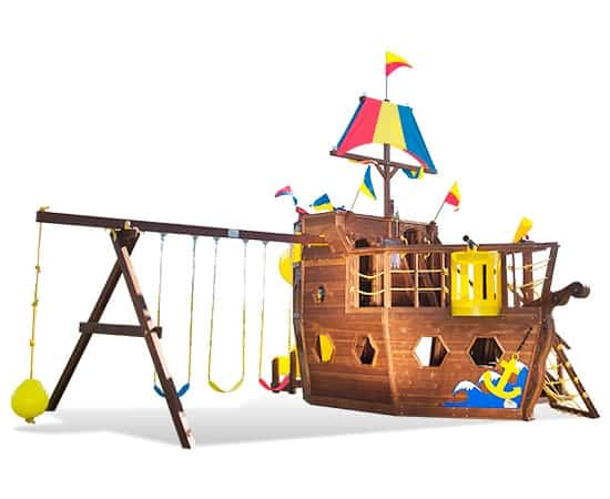 Pirate Ship Pkg II Spiral Slide