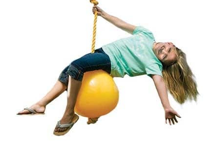 Knotted Rope Buoy Ball Swing (124)