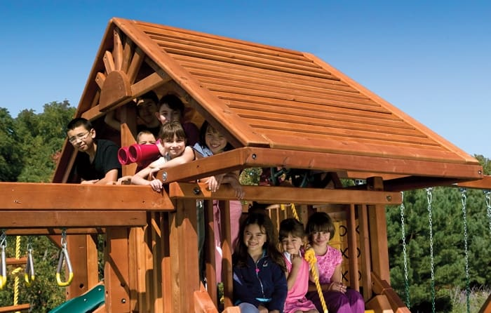Rainbow Castle Pkg II Loaded Wood Roof (18C)