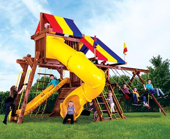 Sunshine Castle Pkg V w/ 270˚ Spiral Slide (15J)
