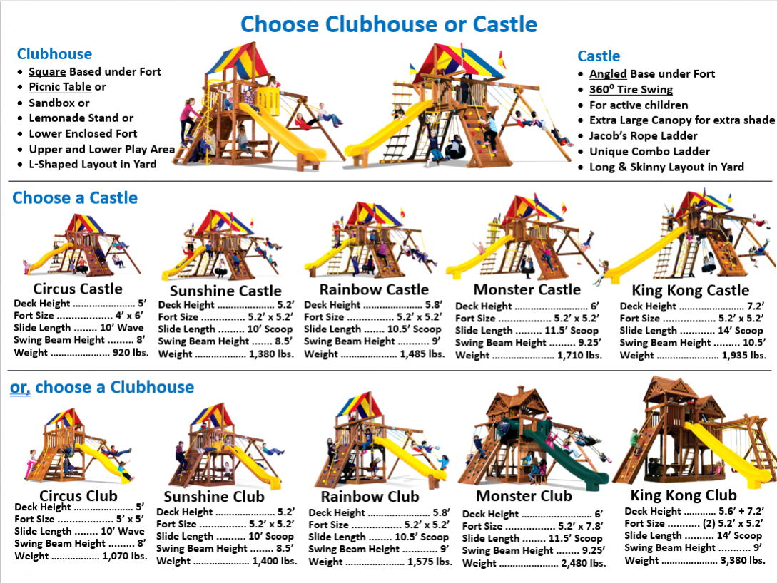 Choose Castle or Clubhouse Series-BEST